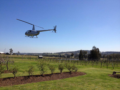 Bluebush Estate Helicopter Pickup